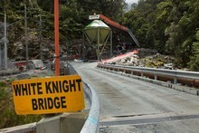 The entrance to the Pike River Coal mine where 29 workers died inside after an explosion on Friday November 19, 2010. Photo / Simon Baker