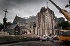 Quake damaged Christchurch Cathedral. Photo / Doug Sherring