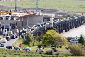 The Kopu Bridge has been the scene of long traffic delays for years, but a new bridge could be up and running for this year's Christmas holidays. Photo /  Christine Cornege.