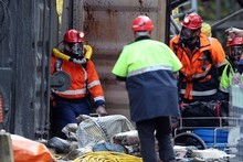 Mines Rescue personnel have been prevented from re-entering the Pike River mine by the mine managers. Photo / APN