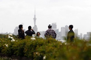 Chinese visitor numbers to New Zealand were up by 18.2 per cent. Photo / Dean Purcell