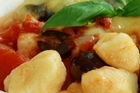 Gnocchi with tomato and basil sauce. Photo / Supplied