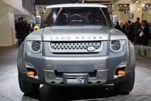 Land Rover's DC100, including a convertible version, puts more of an emphasis on off-road capability. Photo / Supplied