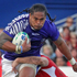 Alesana Tuilagi of Samoa runs into Wales defence. Photo / Alan Gibson