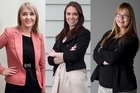National's Nikki Kaye, Labour's Jacinda Ardern and Green Denise Roche will be seeking Auckland Central's MP seat. Photos / Natalie Slade