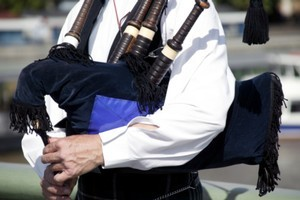 A wee tune on the pipes apparently hasn't been music to the ears of Rugby World Cup officials. Photo / Thinkstock