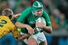 Ireland hooker Rory Best in action against Australia. Photo / Brett Phibbs