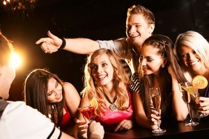 Young men and women are often out to attract a male. Photo / Thinkstock