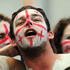 Georgia fans enjoy the atmosphere during the Pool B match between England and Georgia at Otago Stadium in Dunedin. Photo / Getty Images