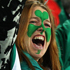 Ireland fans celebrate victory after the Pool C match between Australia and Ireland at Eden Park. Photo / Getty Images