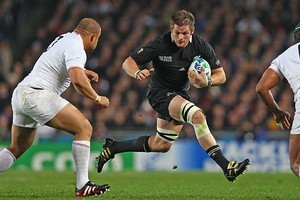 Richie McCaw capped his 100th test with a 37-17 victory. Photo / Getty Images
