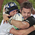 All Blacks captain Richie McCaw tries to break free of the French defence. Photo / Richard Robinson