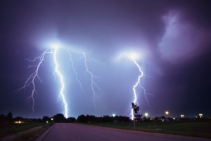 Thousands of lightning bolts hit Northland today. Photo / Thinkstock