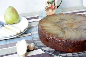 Pear, lime and ginger cake. Photo / Ian Jones