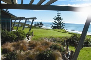 Gazing out from one of the Papamoa Top 10 Holiday Resort's villas. Photo / Supplied