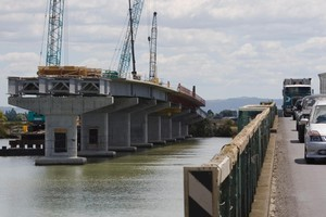 The new Kopu bridge across the Waihou River is expected to be opened in the middle of next year. Photo / Paul Estcourt