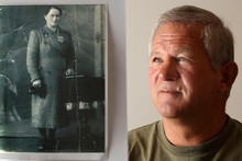 Peter Kowalewicz at home in Onewmana, near Whangamata, with a picture of his mother, Maria. Photo / Alan Gibson
