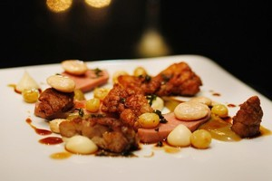 Clooney's veal tongue and sweetbreads were a textural delight. Photo / Steven McNicholl