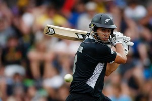 Ross Taylor is promoted to No 3 for today's one-day international in Wellington. Photo / Mark Mitchell