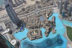 The view from the Burj Khalifa in Dubai. Photo / Supplied