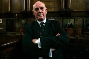 Auckland Grammar School Principal John Morris in the school's main hall. Photo / Herald on Sunday