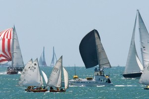 Yachties enjoy the action and weather during last year's regatta. Photo / Brett Phibbs