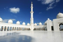 The Grand Mosque is visible from whichever road you take into Abu Dhabi. Photo / Thinkstock