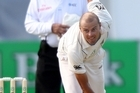 Chris Martin bowls during day three of the second test match against Pakistan. Photo / Getty Images