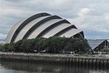 Clyde Auditorium, also known as the Armadillo. Photo / Graham Reid
