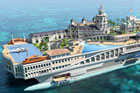An artist's impression of Streets of Monaco, a new yacht based on the city of Monte Carlo. Image / Supplied