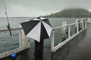 Don't plan a beach trip tomorrow - the North Island is set for a rainy 24 hours, according to the Met Service. Photo / Alan Gibson