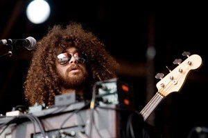 Wolfmother entertains the crowd. Photo / Dean Purcell
