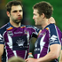 Cameron Smith, Anthony Quinn and Cooper Cronk of the Melbourne Storm look dejected. Photo / Getty Images
