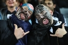 All Blacks fans getting in to the rugby spirit. Photo / Getty Images