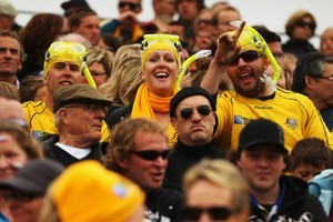 Wallabies fans enjoying themselves in Nelson. Photo / Getty Images