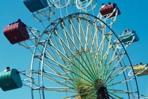 Two children are reported to be stuck on the ferris wheel. Photo / Thinkstock