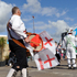 Morris dancers entertain crowds at the cloud. Photo / Nick Kingston