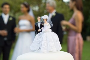 On average, 21.9 per cent of the budget goes on clothing and the wedding dress. Photo / Thinkstock