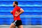 Kieran Read, training with Nic Gill, is primed to return to the side on Sunday. Photo / Getty Images