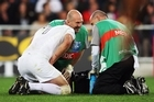 What's worse than getting smashed in the Jack's crackers during a game of rugby? Having the medical staff run onfield and laugh at you. Photo / Getty Images