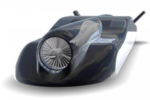 Jetblack, the turbojet propelled 'car' under development by Kiwi businessman Richard Nowland.