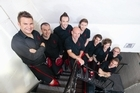 Kevin Macdonald, second from left, with his fellow Red Hot Chilli Pipers. Photo / Supplied