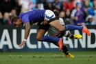 Samoa winger Sailosi Tagicakibau in action against Fiji. Photo / Brett Phibbs