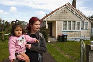 Angelica Seamer and her daughter, Mereama, will be moved from  their Glen Innes house to make way for the Housing Corporation plan. Photo / Paul Estcourt