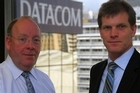 Overseas sales will provide a rising share of Datacom's income, says chief executive Jonathan Ladd (left), with NZ head Greg Davidson. Photo / Anthony Doesburg