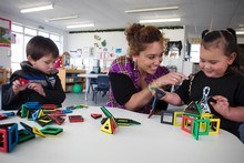Under the initiative, another 100 centres would join South Auckland's newest early education centre, where teacher Renee Maxell works. Photo / Natalie