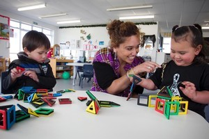 Under the initiative, another 100 centres would join South Auckland's newest early education centre, where teacher Renee Maxell works. Photo / Natalie Slade