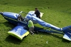 The homemade aircraft slammed into a hillside after its engine spluttered then cut out in midair. Photo / Alan Gibson