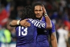 Samoa's Seilala Mapusua and Alesana Tuilagi. Photo / Greg Bowker