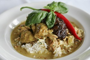 Chicken and cashew nut curry. Photo / Getty Images